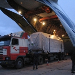 GOCE container unloaded