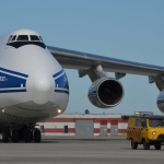 Volga-Dnepr flight VDA4900 arriving in Archangelsk delivering Sentinel-5p (credits: Eurockot Launch Services)