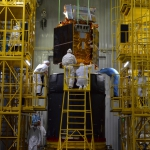 Mounting the Sentinel-5p onto Breeze-KM (credits: Eurockot)