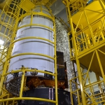 Sentinel-5p on Rockot Encapsulation (Credits: Eurockot)