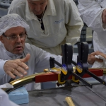 Inspection of clamp band set-up by Airbus Defence and Space's (CASA Espacio) Project Manager (credits: Eurockot)