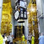 Sentinel-3B Hoisting onto Breeze-KM (Credits: Eurockot)