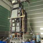 Installation of Sentinel-3A on the adapter