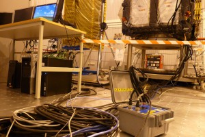 Sentinel-3A electrical tests running