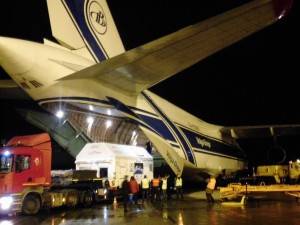 Sentinel-3A arrival in Arkhangelsk