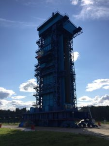 Part of the inspection: Rockot launch tower