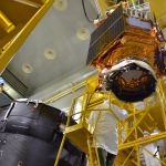 Lifting of Sentinel-5p towards Breeze-KM (credits: Eurockot)