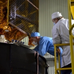 Inspection of the satellite / adapter / upper stage interface (credits: Eurockot)