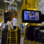 PR-relevant: Khrunichev camera team recording the stacking activities (credits: Eurockot)