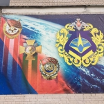 Commemorating the achievements of the Space Forces operating the launch facilities in Plesetsk (credits: Eurockot Launch Services)
