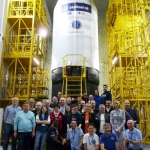 Sentinel-3B on Rockot: launch campaign team (Credits: Eurockot)