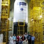 Sentinel-3B on Rockot: Khrunichev team (Credits: Eurockot)